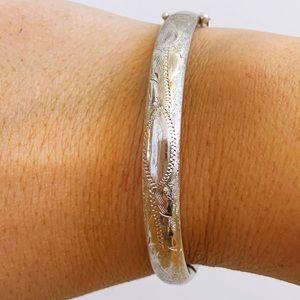 Sterling Silver Van Dell Bangle Hinged Bracelet